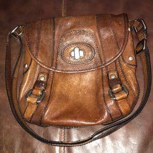 Fifty Four Fossil Leather Bag Vintage Adjustable